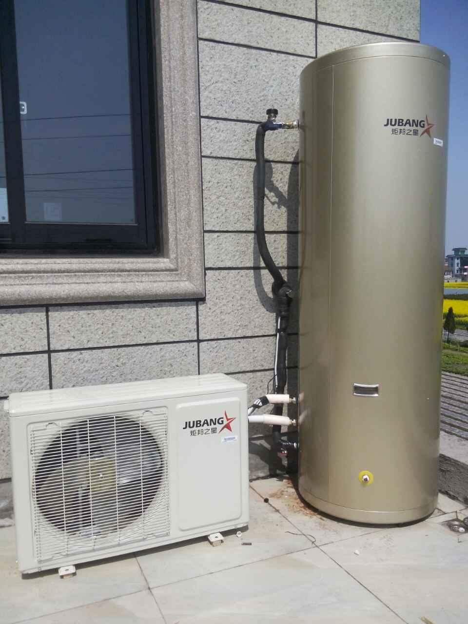 炬邦空气能热水器较传统热水器最大的不同是水箱内
