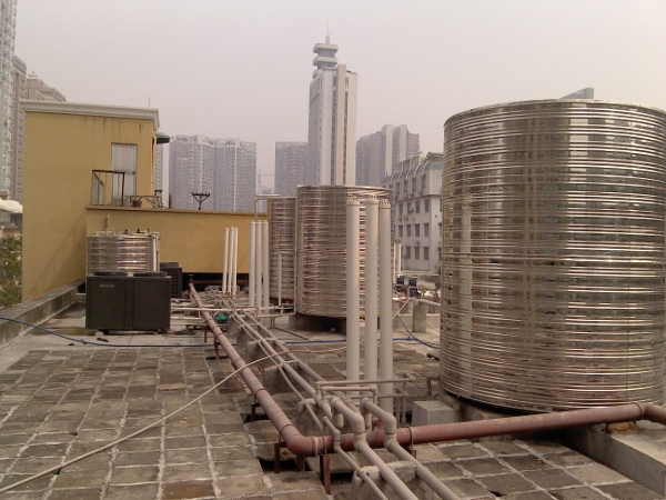 广州市宾馆空气能热泵热水工程案例